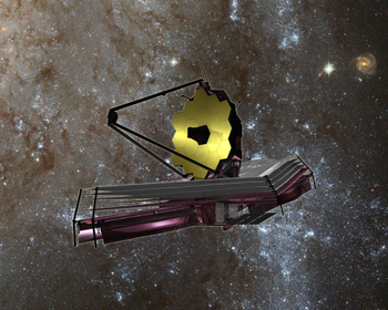 Artist conception of JWST in space