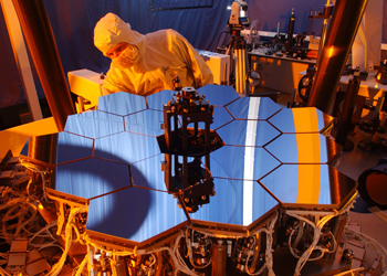 A one-sixth scale model of the JWST mirrors