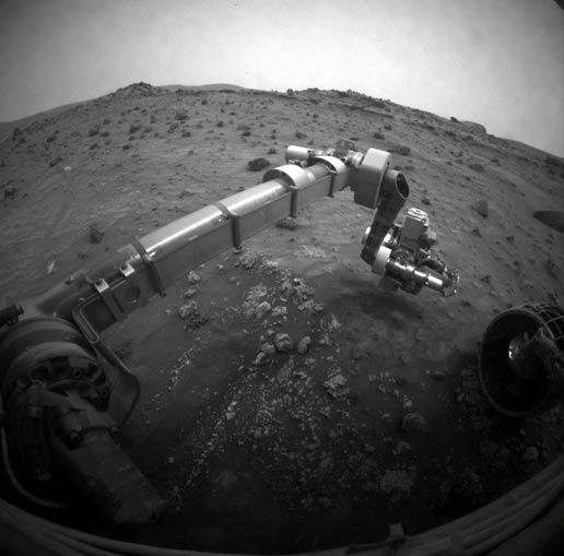 NASA's Mars Exploration Rover Spirit moved its robotic arm