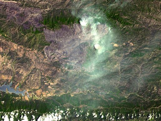 The Zaca fire continued to burn in the Los Padres National Forest near Santa Barbara, Calif.