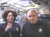 Mission Specialist Barbara Morgan and Commander Scott Kelly