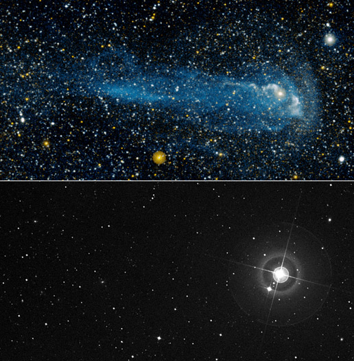 visibile and ultraviolet views of Mira