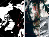 Thumbnail of a satellite image of the Arctic Circle
