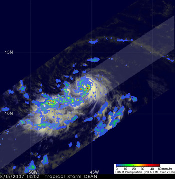 TRMM Image of Tropical Storm Dean