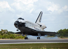 Endeavour lands at Kennedy Space Center.