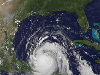 GOES image of Hurricane Dean