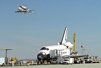 space shuttles were built where - photo #48