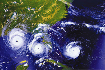 Series of GOES Images showing Hurricane Andrew