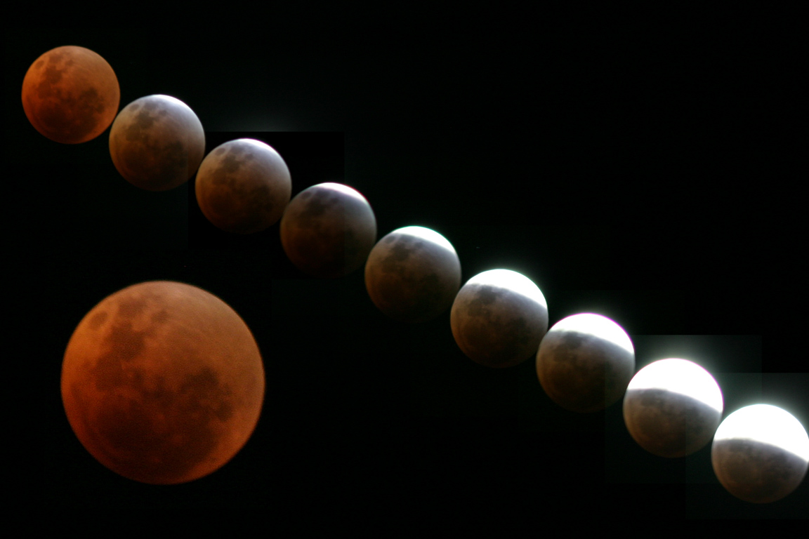 Colouring sheets of the lunar eclipse - Image Of The Lunar Eclipse By Dylan Odonnell