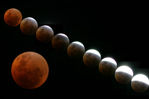 Image of the Lunar Eclipse by Dylan ODonnell