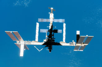 The International Space Station in its new configuration after STS-118.