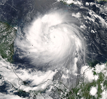 Satellite image of Hurricane Felix