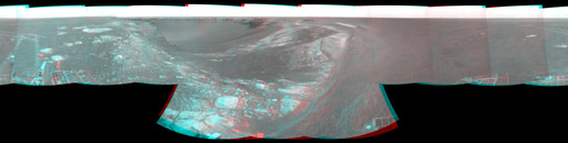 Forty Meters from Entry to Victoria Crater (Stereo)
