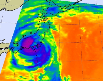 AIRS image of Typhoon Fitow