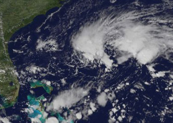 Satellite image of possible tropical depression
