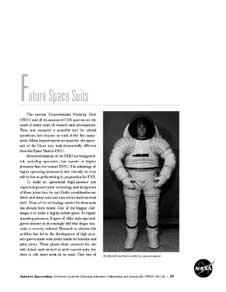 The first page of Future Space Suits