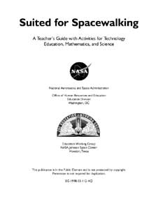 The first page of the Introductory materials from the Suited for Spacewalking Educator Guide