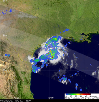 Satellite image of Tropical Storm Humberto