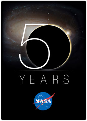 Le logo des 50 ans de la Nasa 189318main2_nasa_50th_logo_280