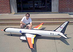 Liz Muller and a Generic Transport Model airplane
