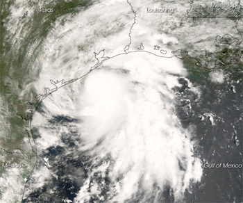Satellite image of Humberto