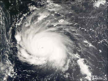 Satellite image of Typhoon Nari