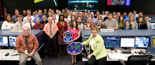 jsc2007e029830 -- International Space Station flight control team
