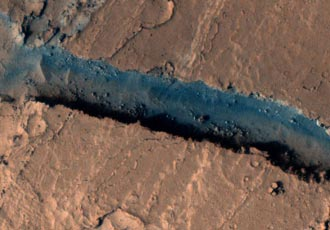 Athabasca Valles on Mars