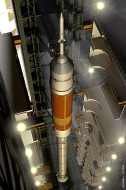 The Ares I wil be stacked in the Vehicle Assembly Building.