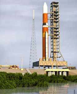 The Ares V rocket will use Launch Complex 39A.