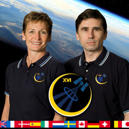 iss016-s-002a -- Expedition 16 Commander Peggy Whitson and Flight Engineer Yuri Malenchenko