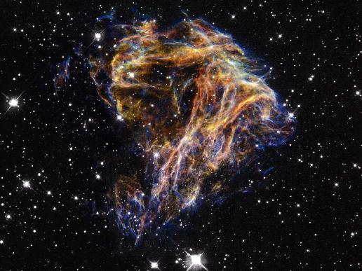 Debris from a stellar explosion