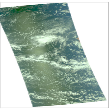 Satellite image of Tropical Depression 14