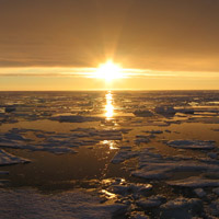 sunset over the Arctic