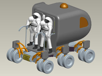 NASA artist idea of a lunar rover