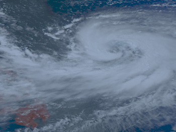 Satellite image of Typhoon Krosa