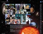Front of the Earth and Space Science Explorers poster featuring pictures of explorers
