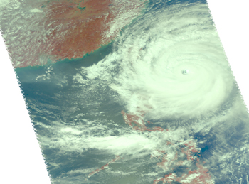 Satellite image of Super Typhoon Krosa