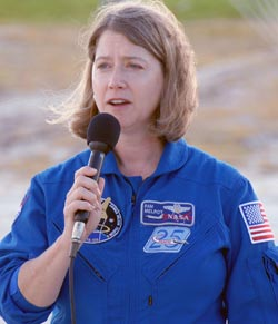 Discovery commander Pam Melroy talks about mission STS-120.