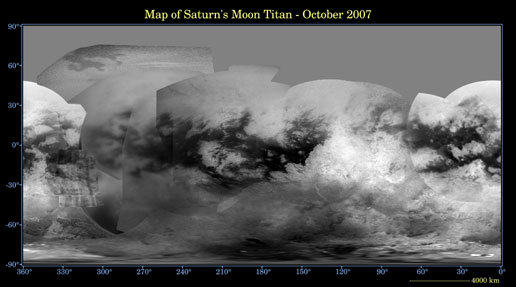 Map of Titan - October 2007