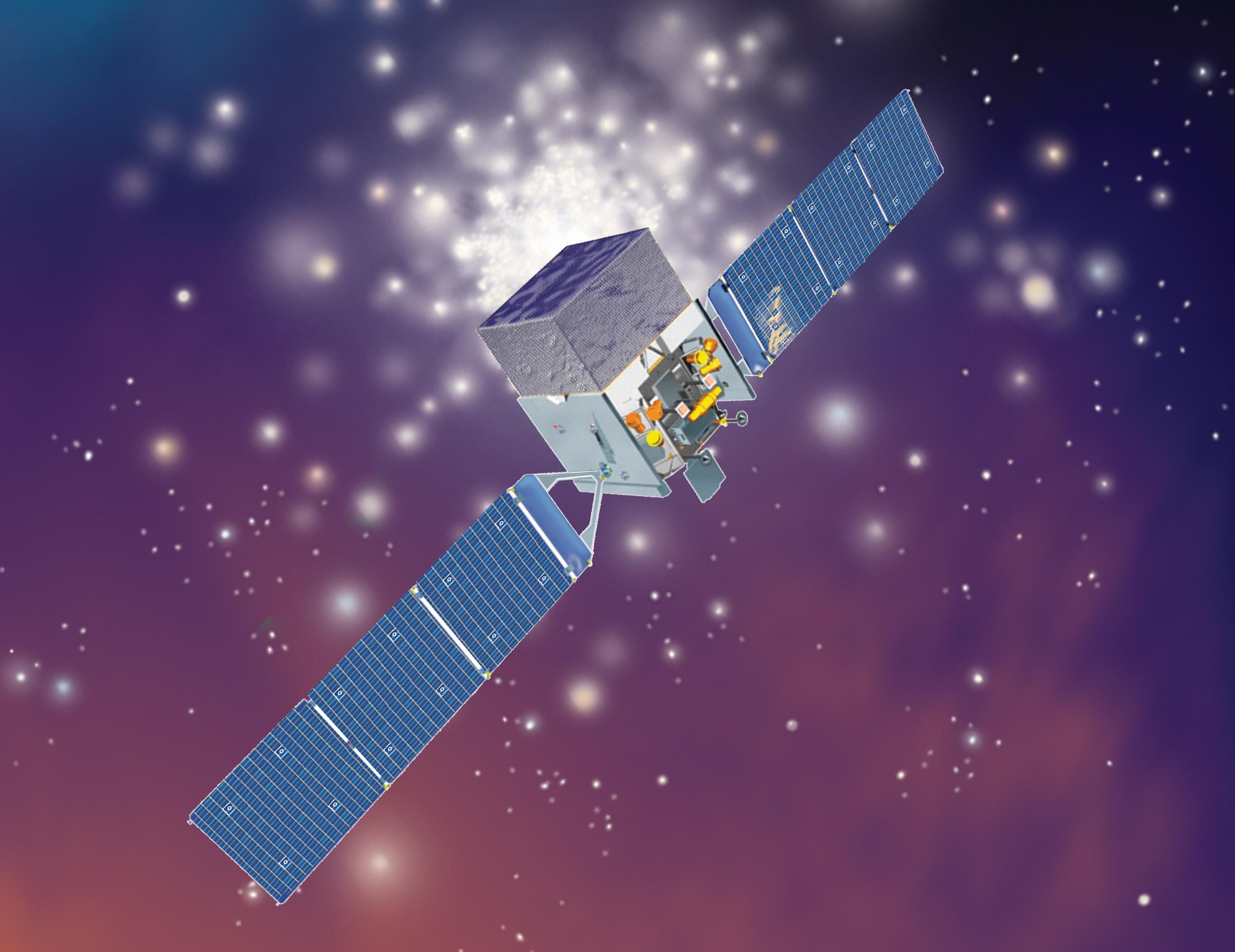 nasa illustration of the glast spacecraft