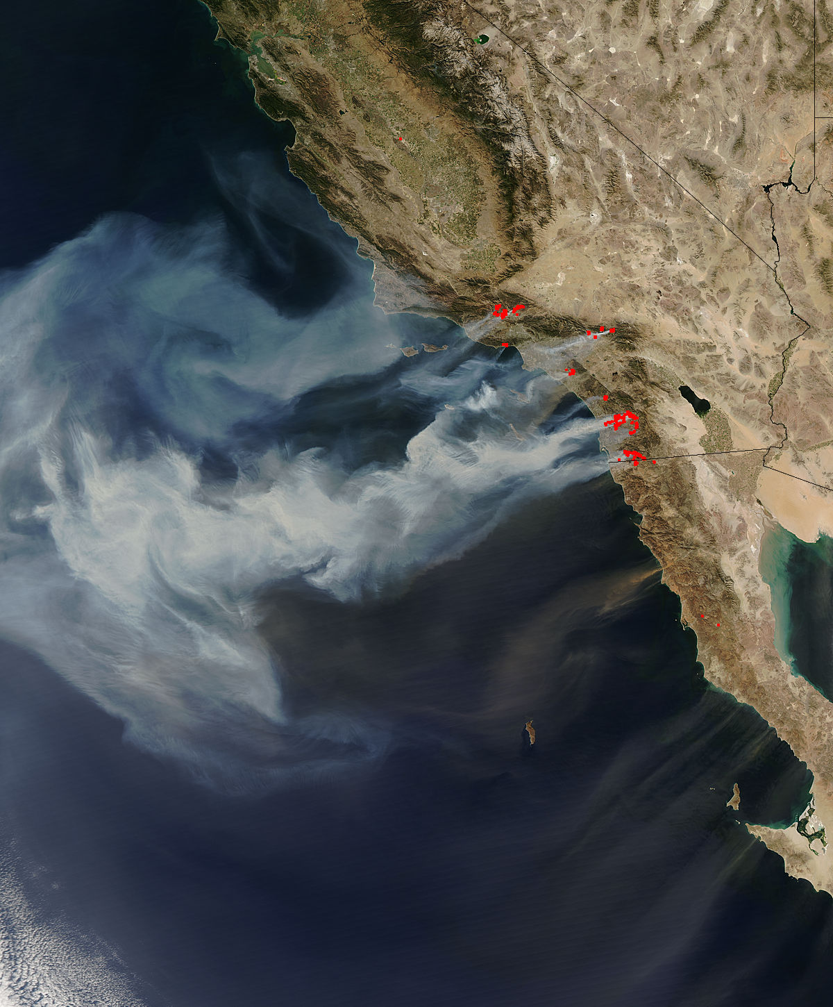 NASA NASA Images Of California Wildfires - Most current satellite maps