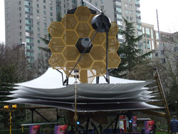 Image of the JWST Model set up for the meetings in Seattle.