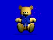 A cartoon image of a teddy bear
