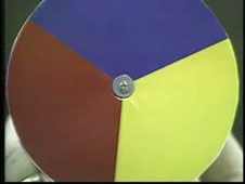 A color wheel with red, yellow and blue