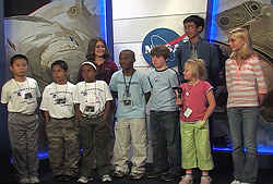 Naming students visit Kennedy Space Center