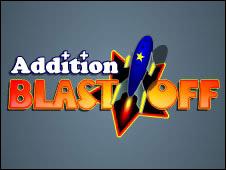 Screenshot of the Addition Blastoff game
