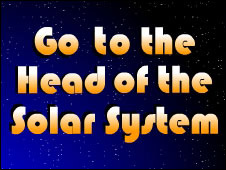 Screenshot of the Go to the Head of the Solar System game