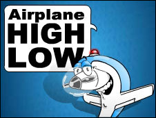 Screenshot of the Airplane High Low game