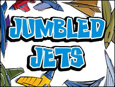 Screenshot of the Jumbled Jets game